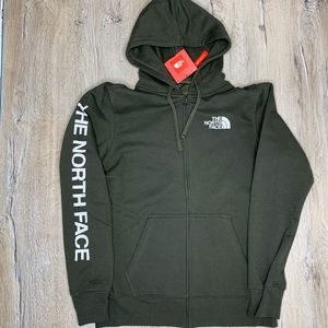 The North Face Mens Green ZIP Up Hoody